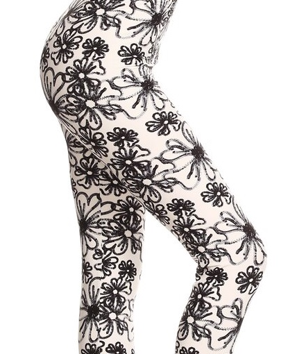 Fossil Flower Plus Leggings