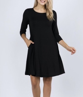 Tunic with Pockets - Black