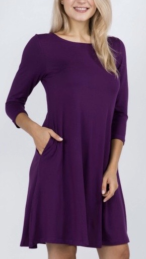 Tunic with Pockets - Purple